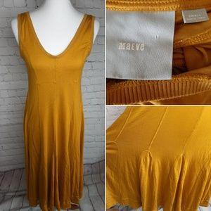 Anthtopology Maeve mustard dress size S